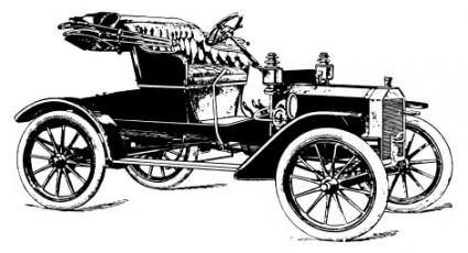 old car drawing