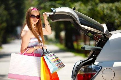 shopping with car