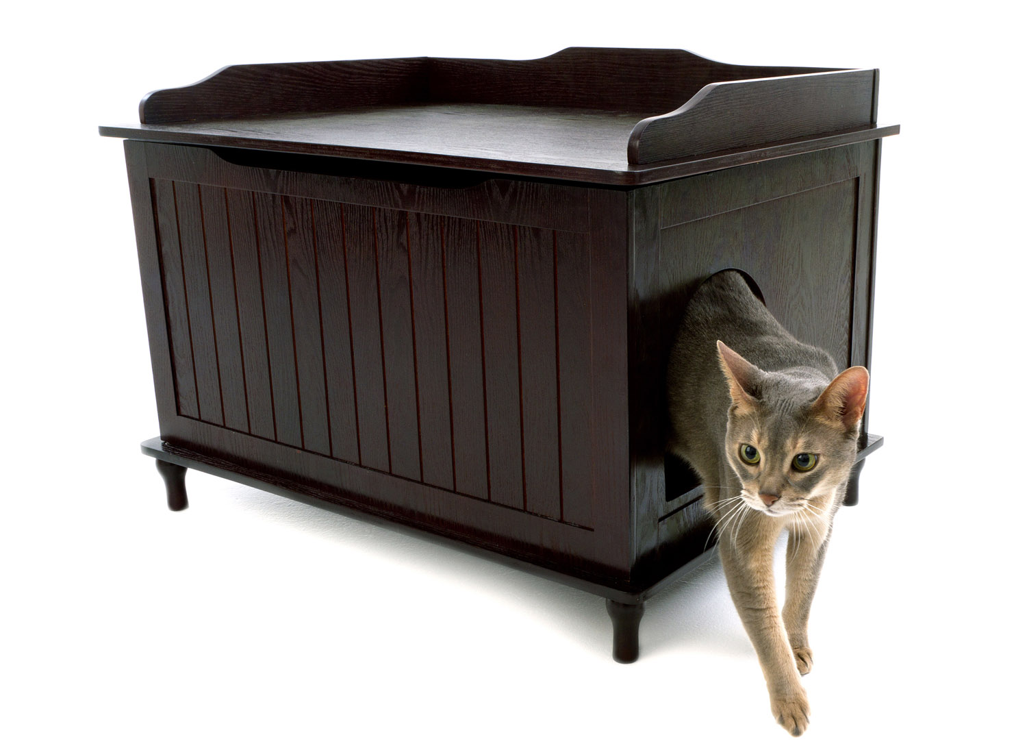 box abfb supplies cat furniture pet products litter overstock bench shipping walnut hidden free today product merry