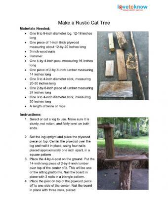 rustic cat tree