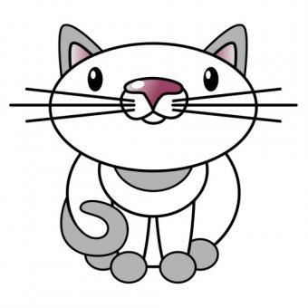 Cute kitty clip art