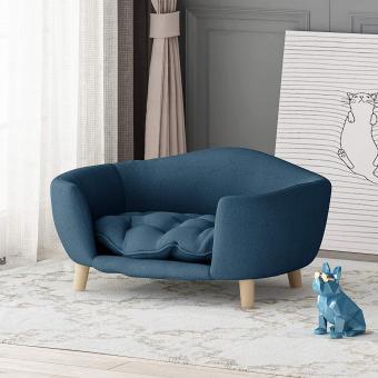 Furniture Samuel Mid Century Small Plush Pet Bed