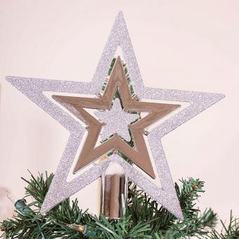 Flat Star Tree Topper Silver