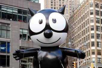 Felix the Cat rides in the Macy's Thanksgiving Day Parade