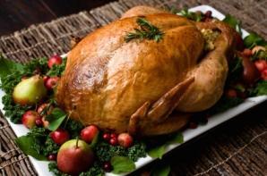 Roasted turkey.