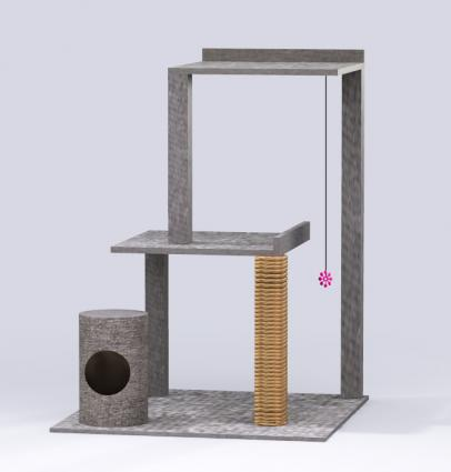 Build your own cat tree lovetoknow for Design your own cat tree