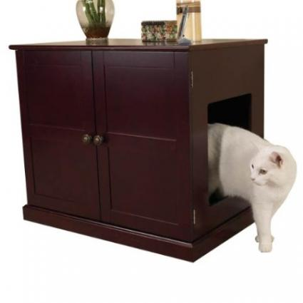 Pet Studio MDF Litter Box Cat Cabinet