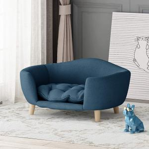 Furniture Samuel Mid Century Small Plush Pet Bed