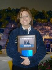 Candace Orm holding her FFA Award.Image used with permission from Pat McGraw.