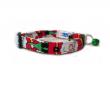 Santa Clause print holiday cat collar