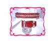 Red velvet cat collar