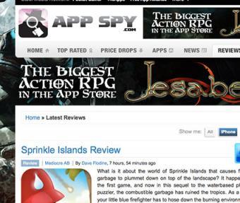 Screenshot of appspy.com website