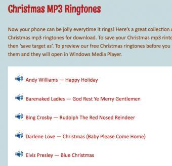 Screenshot of Christmas MP3 Ringtones from Jinglebell Junction