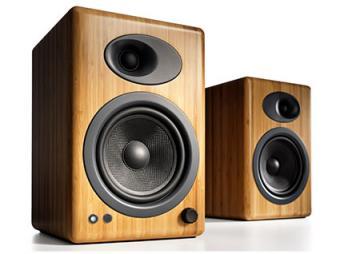 Audioengine A5+ Premium Powered Speakers, Bamboo