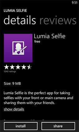 Lumia Selfie phone app