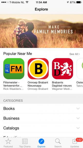 iPhone App Store - Explore Screen