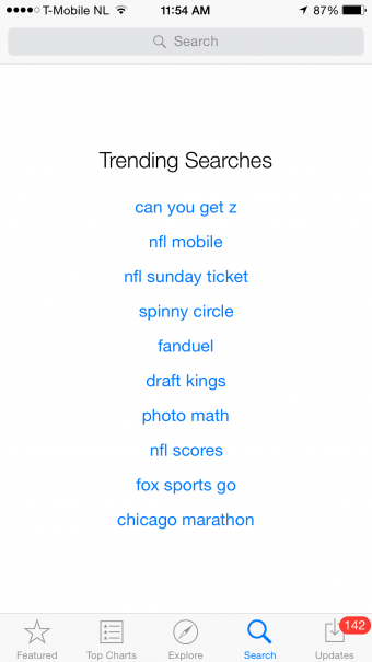 iPhone App Store Search