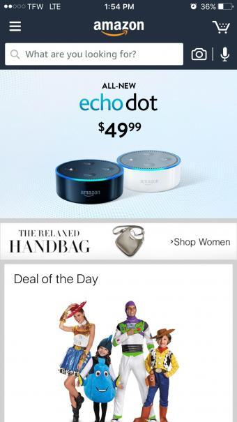 Screenshot of Amazon Mobile Shopping App