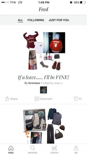 Screenshot of Polyvore Mobile Shopping App