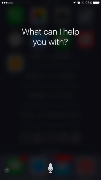 Siri home screen