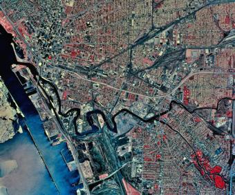 Satellite view of Buffalo, New York