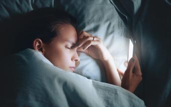 Stressed Woman Sleeping