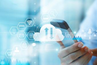 Cloud technology internet networking concept