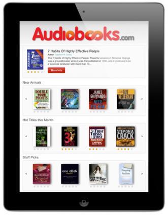 ipad app for Audiobooks.com