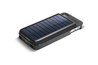 Eton Mobius NSP300B Rechargeable Battery Case w/ Solar Panel for iPhone 4 and 4S