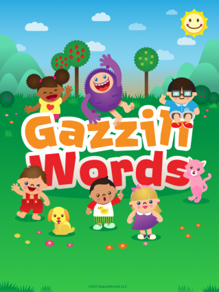 Gazzili Words app screen shot