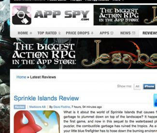 Screenshot of appspy.com website
