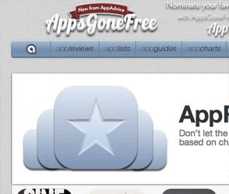 Screenshot of appadvice.com website