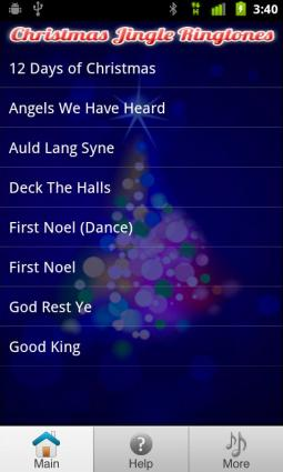 Screenshot of Free Christmas Ringtones from Funny Ringtone Apps