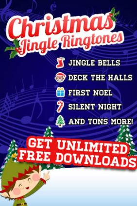 screenshot of christmas music ringtones by mobgen