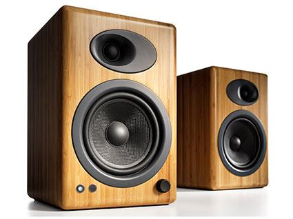 Audioengine A5+ Premium Powered Speakers, Bamboo