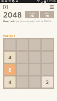 2048 number puzzle