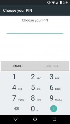 Android lock screen PIN code