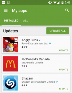 Update your apps regularly