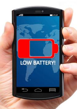 Cell phone low battery