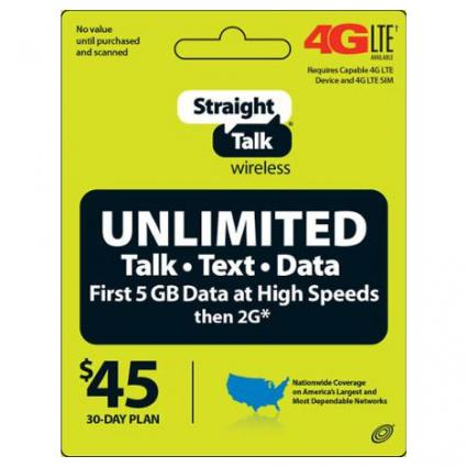 Straight Talk Unlimited Monthly Service Plan