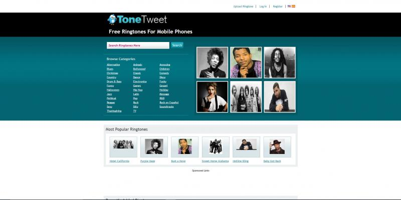 Screenshot of ToneTweet website