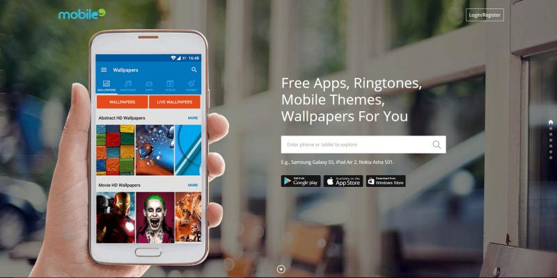 Screenshot of Mobile9 website