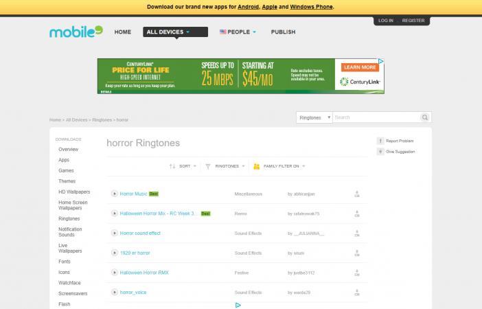 Screenshot of Mobile9