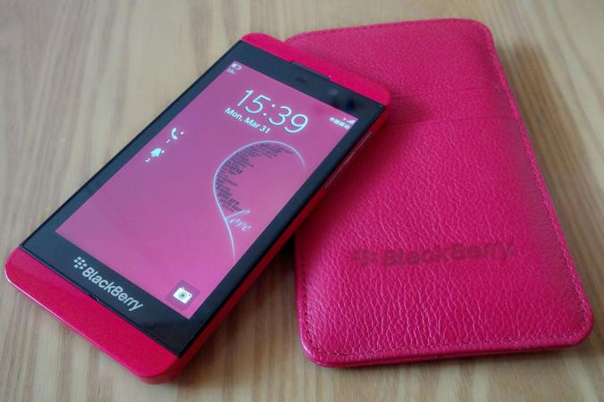 Pink BlackBerry Smartphone