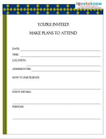 Sample flyer