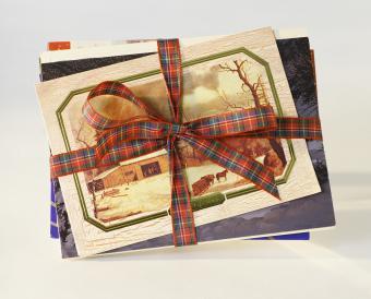 bundle of christmas cards