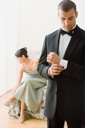 man and woman in formal wear