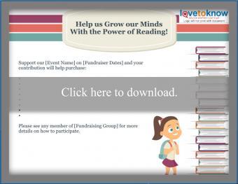 Book Theme School Fundraising Flyer