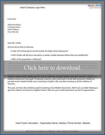 Community development letter