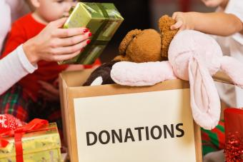 Toy donations for children in shelters